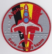 Belgium Air Force Patch BAF y Display Alpha Jet Solo Team
