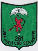 German Army Airborne Parachute Patches Luftlande
