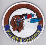 USAF Patch Bomb 93 BS Squadron B 52 Stratofortress a EB