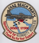 USAF Patch Bomb Deployed Desert Storm 1991 Beach Party B 52 EB