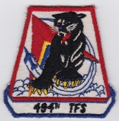USAF Patch Fighter USAFE 494 TFS Tac Ftr Squadron F 100 3a