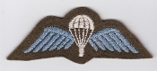 British Army Airborne Wing Patch Parachute Wing 1950 Black Gauze
