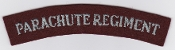 British Army Airborne Title Patch Parachute Regiment Serif 1940s