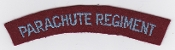 British Army Airborne Title Patch Parachute Regiment 1950
