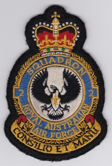 RAAF Patch Sqn Royal Australian Air Force 2 Squadron Crest Bomb