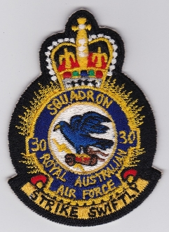 RAAF Patch Sqn Royal Australian Air Force b 30 Squadron Crest