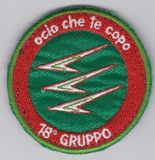 Italian Patch Air Force Aeronautica Militare AM Gruppo 18 F 16