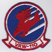 US Navy Aviation Patch AEW VAW 110 Airborne Early Warning Sqn