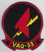US Navy Aviation Patch Electronic Warfare VAQ 33 Squadron 1970s