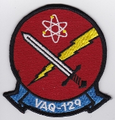 US Navy Aviation Patch Electronic Warfare VAQ 129 Squadron 1980s