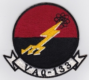 US Navy Aviation Patch Electronic Warfare VAQ 133 Squadron 1969