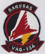 US Navy Aviation Patch Electronic Warfare VAQ 134 Squadron 1970s