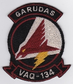 US Navy Aviation Patch Electronic Warfare VAQ 134 Squadron 1980s
