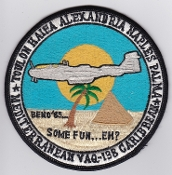 US Navy Aviation Patch Electronic Warfare VAQ 138 Squadron 1985