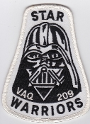 US Navy Aviation Patch Electronic Warfare VAQ 209 Squadron 1980s