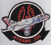 US Navy Aviation Patch Attack VA 304 Strike Squadron A 7 Corsair