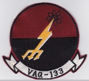 US Navy Aviation Patch Electronic Warfare VAQ 133 Squadron 1980s