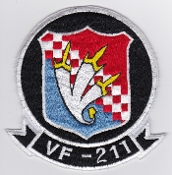 US Navy Aviation Patch Fighter VF 211 Squadron F 8 Crusader