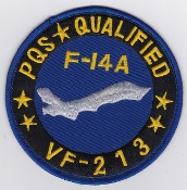 US Navy Aviation Patch Fighter VF 213 Squadron PQS F 14 Tomcat