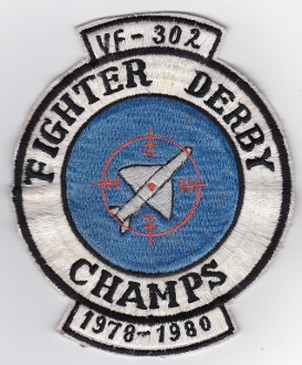 US Navy Aviation Patch VF 302 Fighter Squadron Fighter Derby