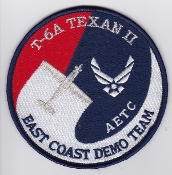 USAF Patch Display United States Air Force AETC T6A Texan Demo