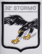 Italian Patch Air Force Aeronautica Militare AM Stormo 32 G 91Y
