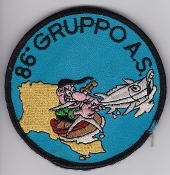 Italian Patch Air Force Aeronautica Militare AM Gruppo 86 AS
