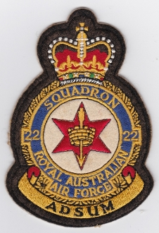 RAAF Patch Sqn Royal Australian Air Force b 22 Squadron Crest