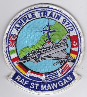 1997 Air Force Patch NATO Ample Train 97 2 RAF St Mawgan