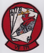 US Navy Aviation Patch Fighter VF 171 Squadron Aces F 4 Phantom