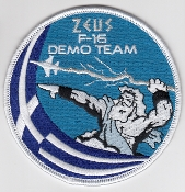 Greek Hellenic Air Force HAF Patch F 16 Demo Team Zeus 2018 a