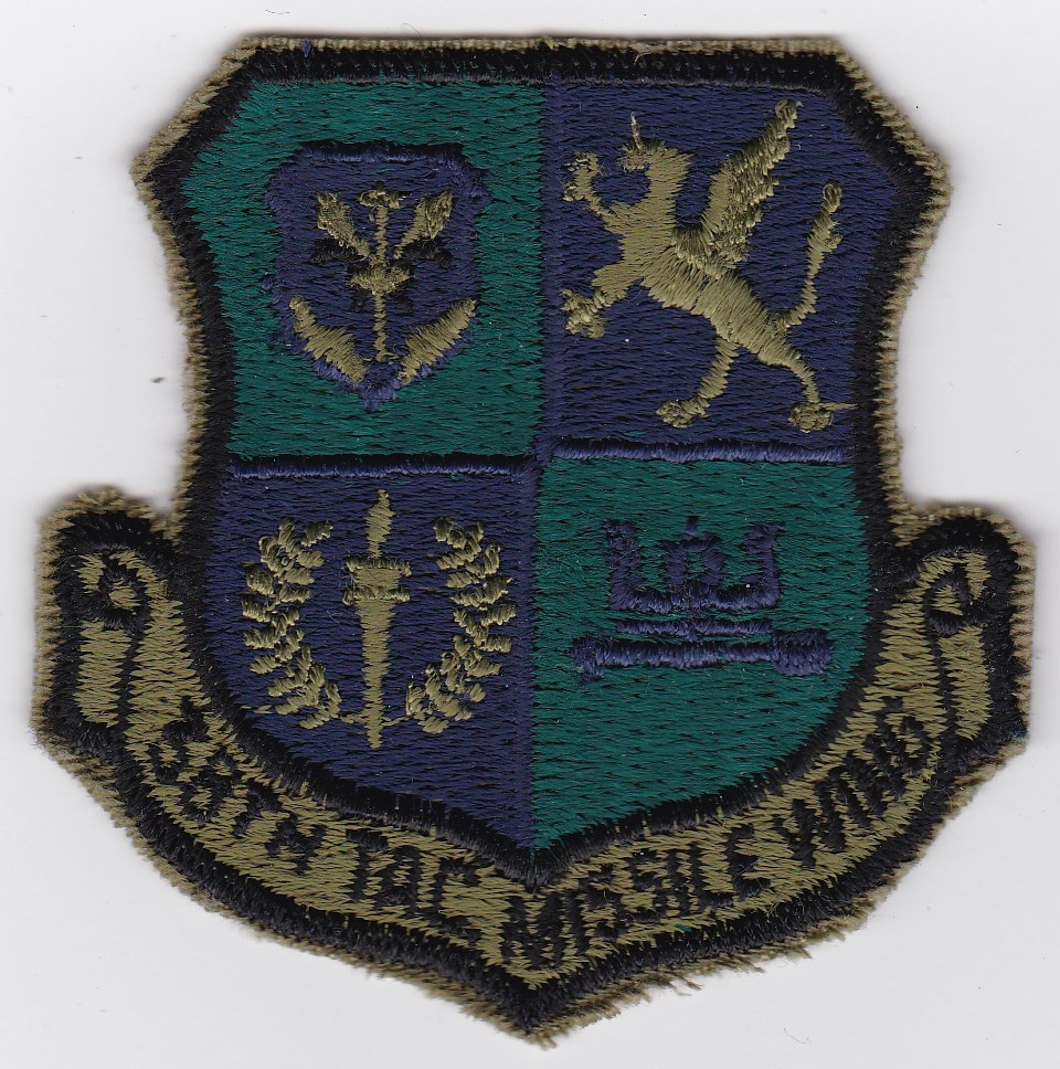 USAF Patch USAFE GLCM 38 TMW Tactical Missile Wing Patch 1985 GLCM